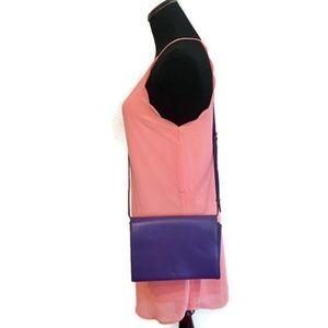 MCM Purple Clutch Purse/Crossbody Bag Authentic